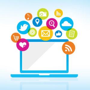online social media sharing image