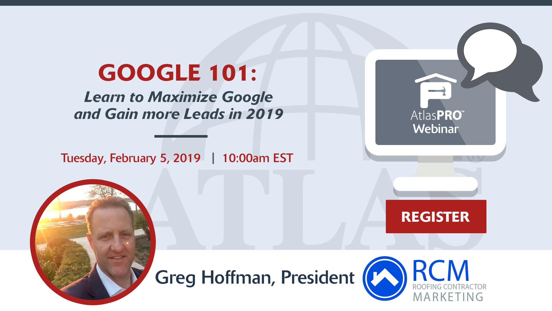 Webinar Invitation for Google 101
